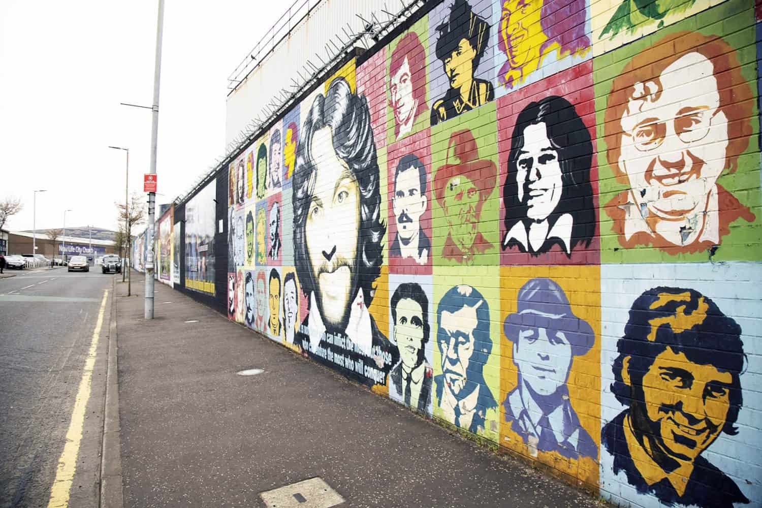 Belfast International Wall with Murals